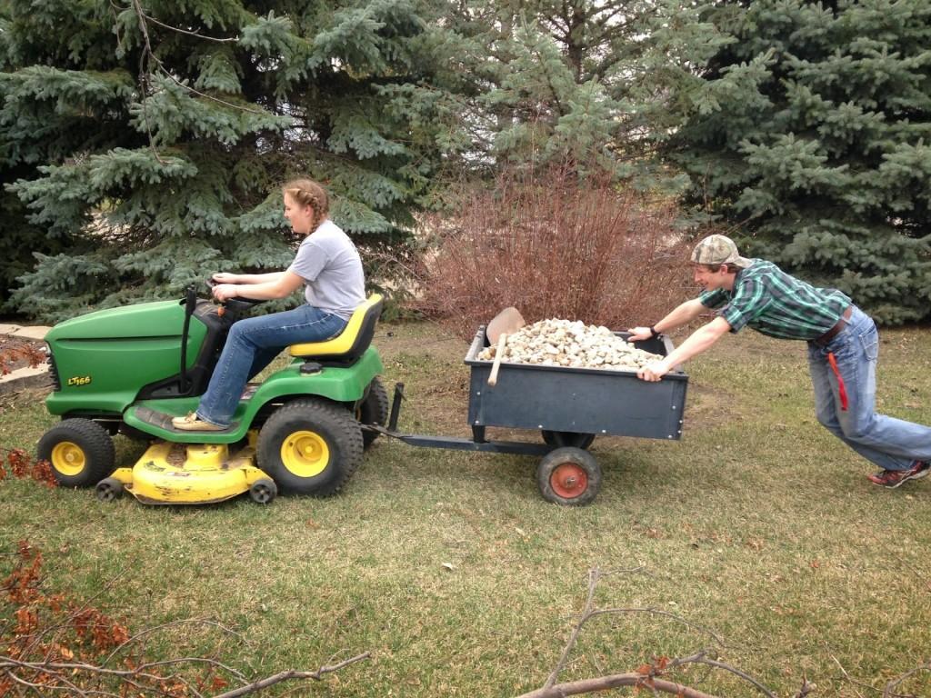 teen yard work